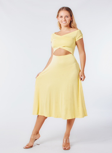 Coral Elbise Sarı
